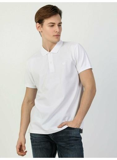 Colin's Regular Fit Polo Yaka Erkek Kısa Kol Tişört Beyaz